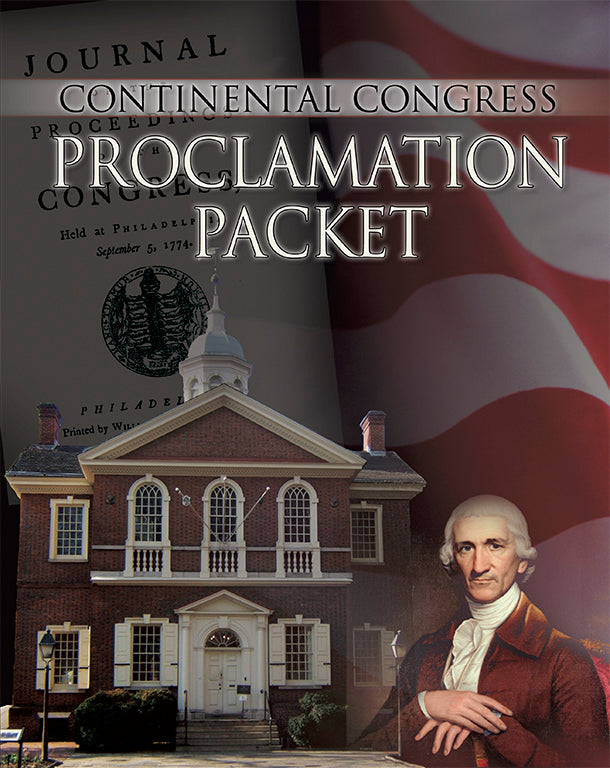 Continental Congress Proclamation Packet