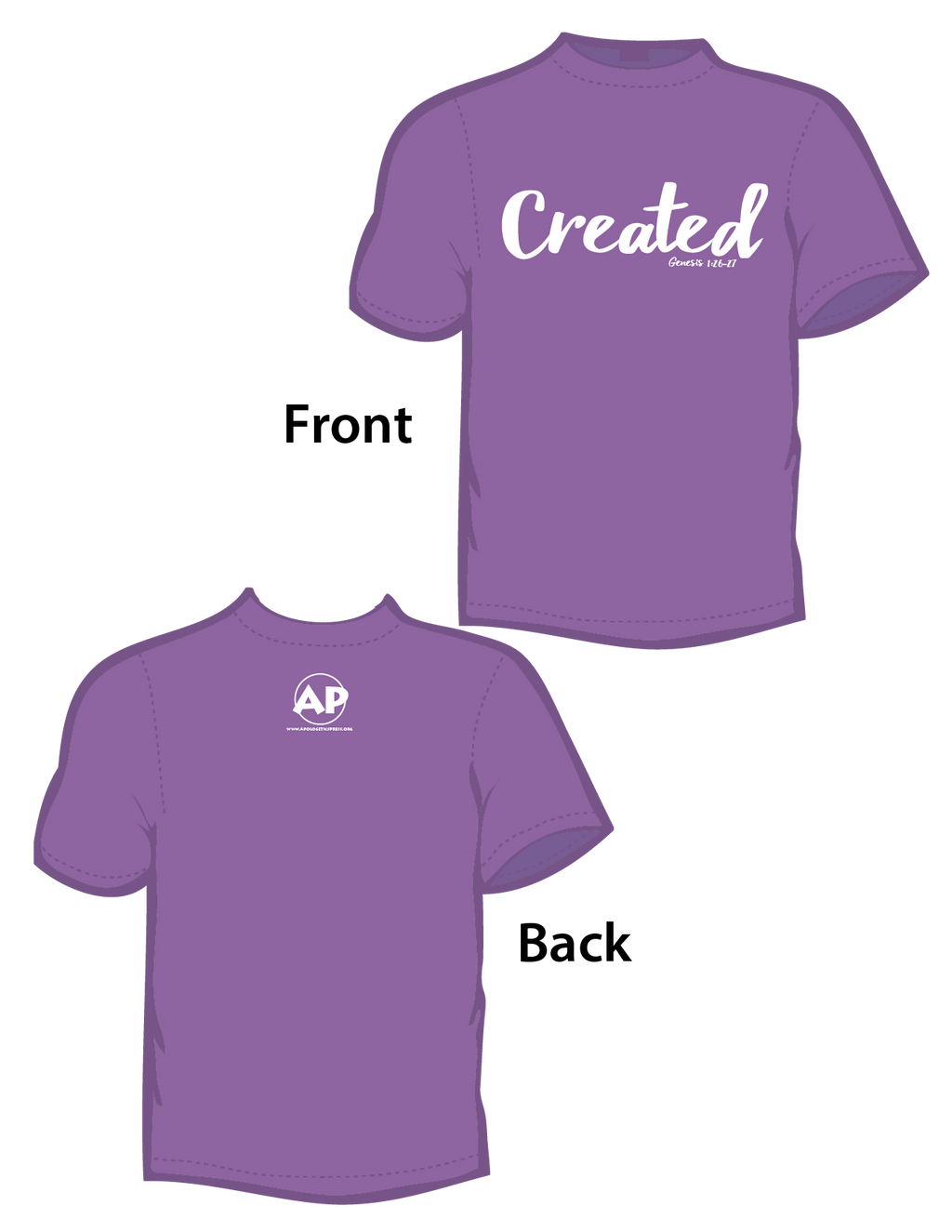 Created (T-Shirt) Violet