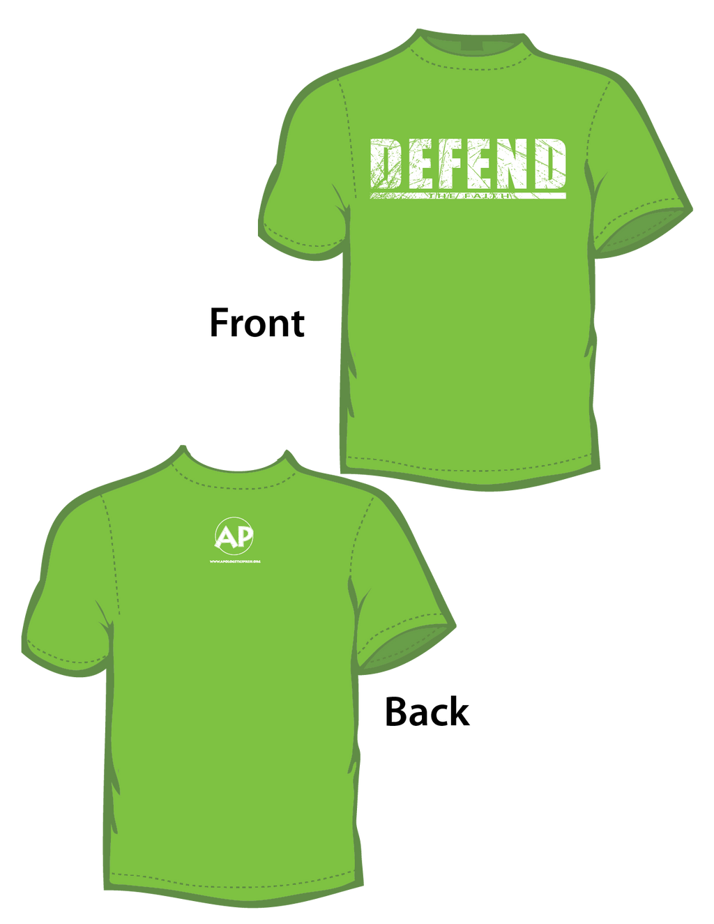 Defend the Faith (T-Shirt) Green