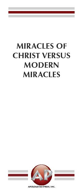Miracles of Christ Versus Modern Miracles