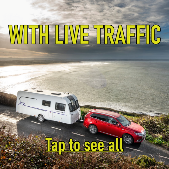 Motorhome/Caravan Sat Navs with LIVE TRAFFIC
