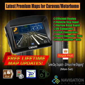 "7"" CMNAV STARTER Camper (128 RAM) - 2020 EU + UK Maps and Premium POIs - C & M Navigation Systems"