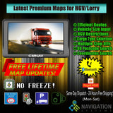 "7"" CMNAV PRO Truck (256 RAM + Bluetooth) - 2020 EU + UK Maps and Premium POIs - C & M Navigation Systems"
