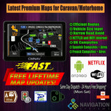 "7"" CMNAV TURBO Camper Android WiFi Netflix (512mb RAM) - 2020 EU+UK Maps and Premium POIs - C & M Navigation Systems"