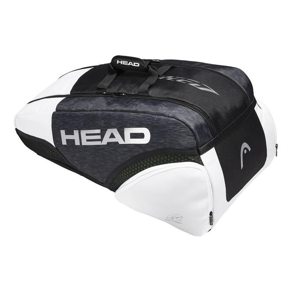 Head Djokovic 9R Supercombi (360) Bag Black White