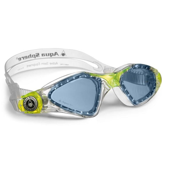 AQGKAYJ171730 - Aqua Sphere Kayenne Junior Swimming Goggles - Blue Lens - Clear + Lime