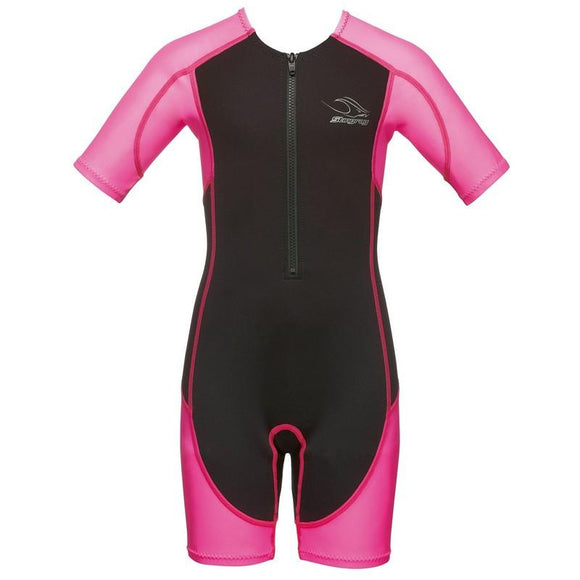 AQSJSTI92017XP - Aqua Sphere Stingray Girls Core Warmer Suit - Short Sleeve - Pink