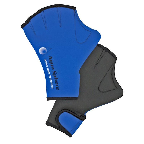 AquaSphere Swim Glove Blue Black