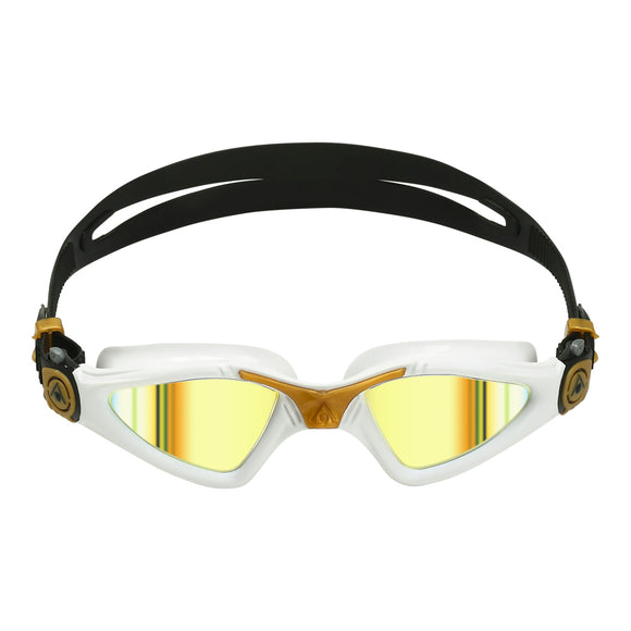 AquaSphere Kayenne Adult Goggle Mirror Gold White