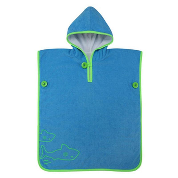 AquaSphere MP Kids Poncho Towel - Blue - Navy