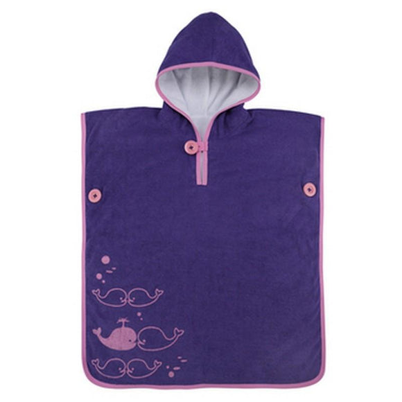 AquaSphere MP Kids Poncho Towel - Purple - Pink