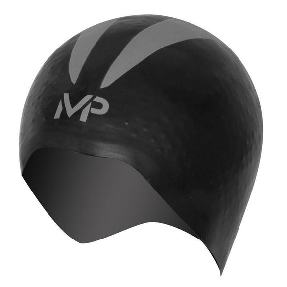 AquaSphere MP XO Swim Cap - Black Silver