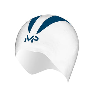 AquaSphere MP XO Swim Cap - White Navy
