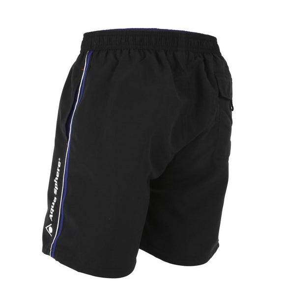 AquaSphere Tiber Mens Shorts - Black/Royal Blue