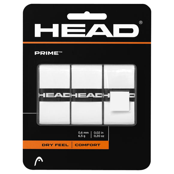 Head Prime Overgrip White 3 Piece Pk