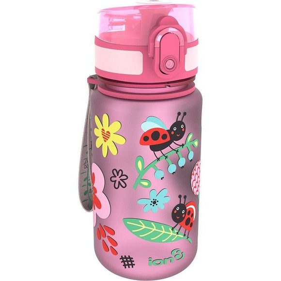 Ion8 Pod 350ml Water Bottle - Ladybirds (Pink)