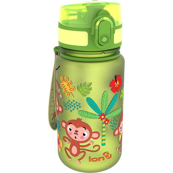 Ion8 Pod 350ml Water Bottle - Monkeys (Green)