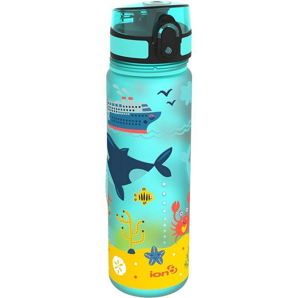 Ion8 Slim 500ml Water Bottle - Sea Life (Blue)