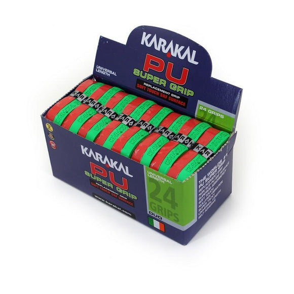 Karakal PU Super Grip Duo Green Red