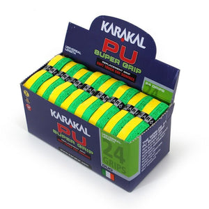 Karakal PU Super Grip Duo Green Yellow