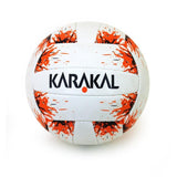 Karakal Quick Touch Gaelic Ball -White/Orange - Splash Print