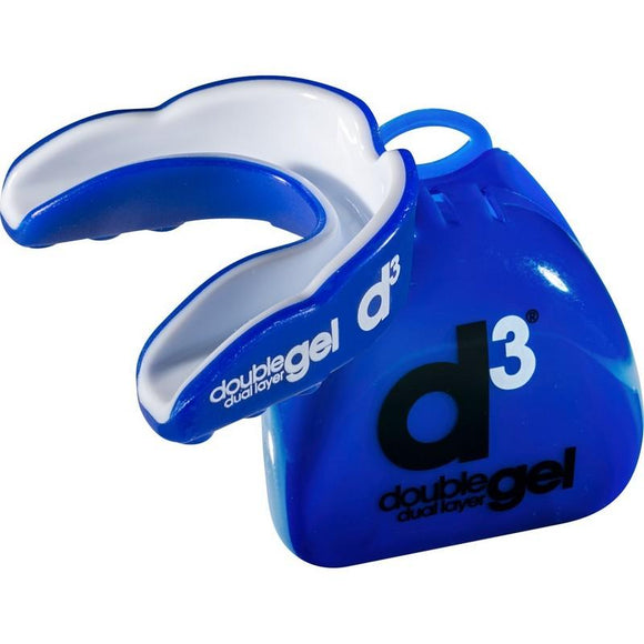 d3 Adult Double Gel Mouthguard - Blue-White