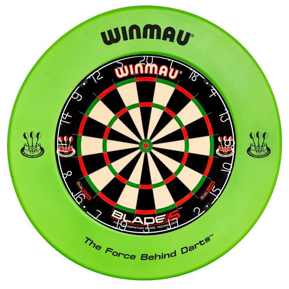 Winmau Dartboard Surround - Printed Green