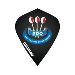 Winmau BDO Black Kite Poly Dart Flight