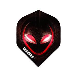 Winmau Red Alien  Mega Standard Dart Flights