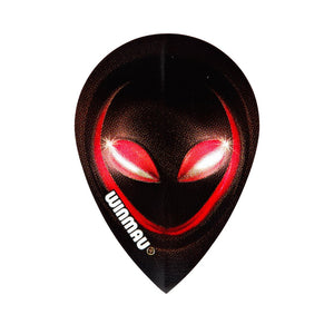 Winmau Red Alien Pear Poly Dart Flights