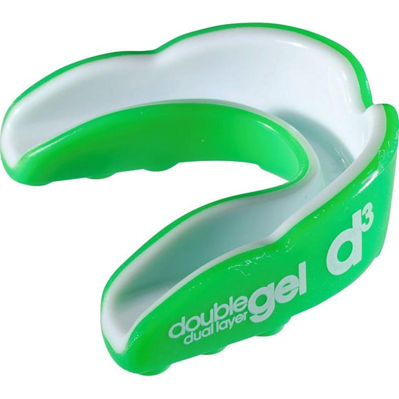 d3 Junior Double Gel Mouthguard Green White x 6