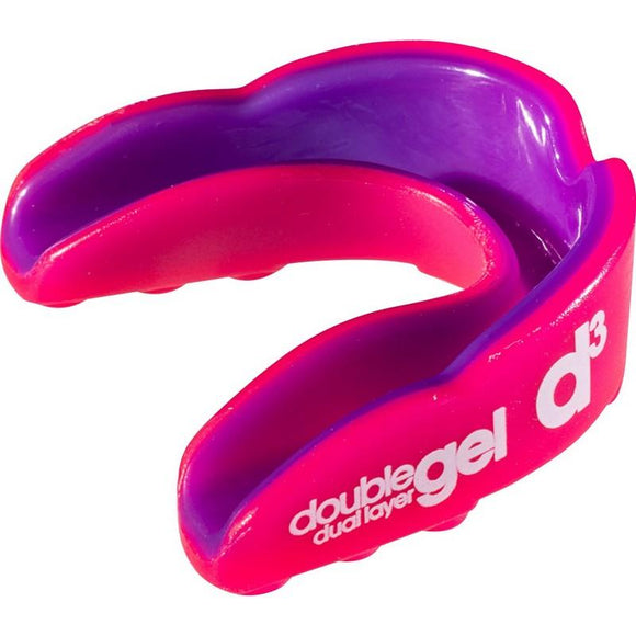d3 Adult Double Gel Mouthguard Pink Purple x 6