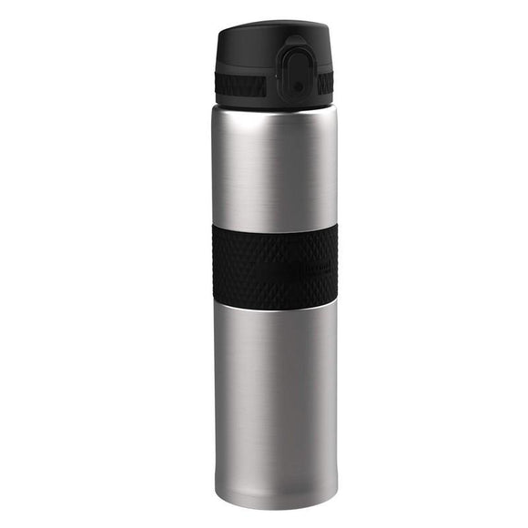 Ion8 Thermal 480ml Water Bottle - Stainless Steel Black