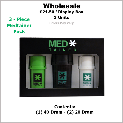 Medtainers- 3 Piece Medtainer Pack (10 Pack Minimum)