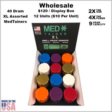 Load image into Gallery viewer, Medtainers- 40 Dram XL Medtainers Assorted Colors (12 Units)