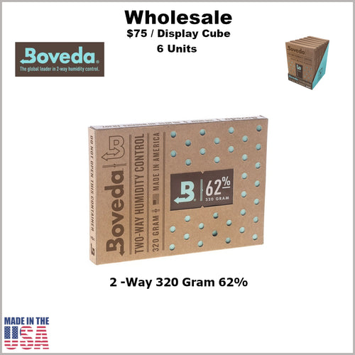 Humidity Pack- 320 Gram Size Boveda 62% RH (6 Units)
