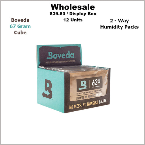 Humidity Pack- 67 Gram Size Boveda 62% RH Cube (12 Units)