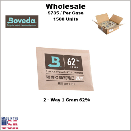 Humidity Pack- 1 Gram Size Boveda 62% RH (1500 Units)
