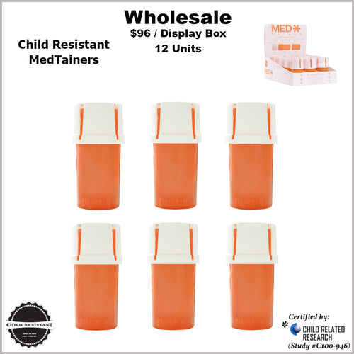 Medtainers- Child Resistant Collection (24 Units) 2 Boxes for the Price of 1 *Special Promo*