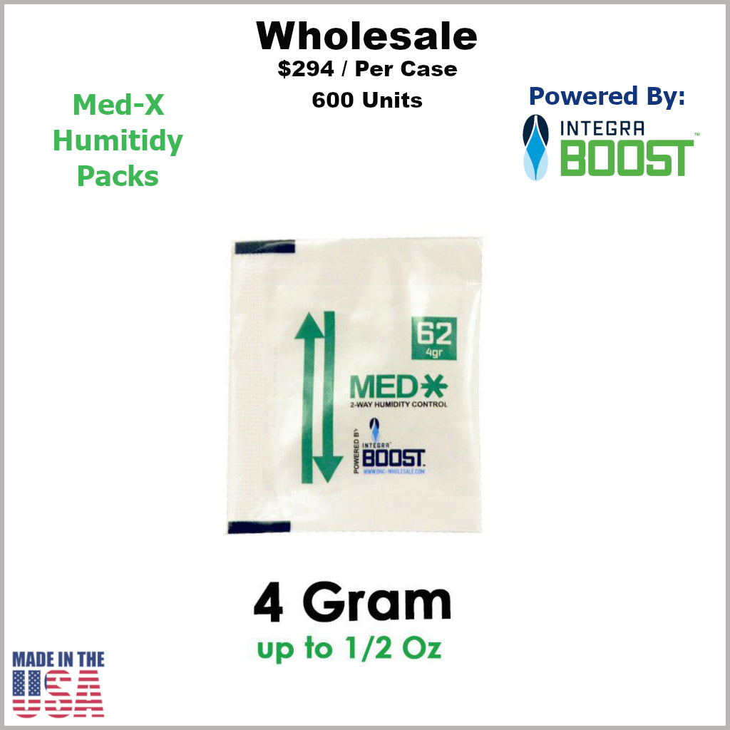 Humidity Pack- 4 Gram Size Med-X 2 Way 62% RH (600 Units)