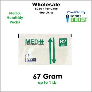 Humidity Pack- 67 Gram Size Med-X 2 Way 62% RH (100 Units)