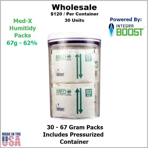 Humidity Pack- 67 Gram Size Med-X 2 Way 62% RH (30 Units) in Container