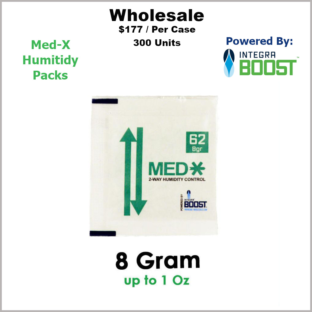 Humidity Pack- 8 Gram Size Med-X 2 Way 62% RH (300 Units)