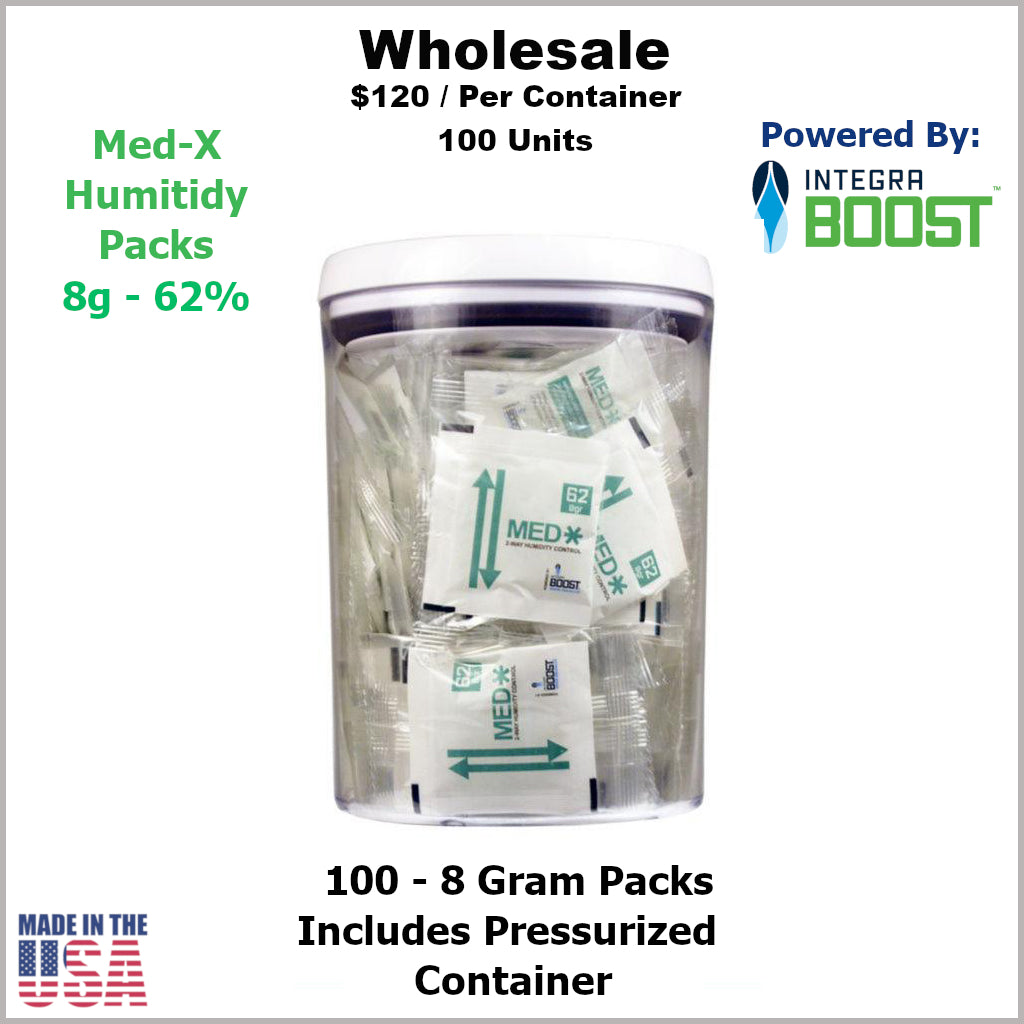 Humidity Pack- 8 Gram Size Med-X 2 Way 62% RH (100 Units) in Container