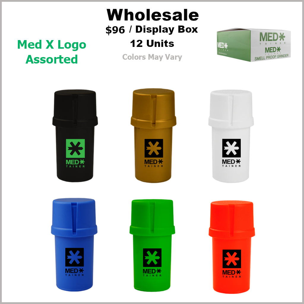 Medtainers Premium- Med X Logo Collection (12 Units)