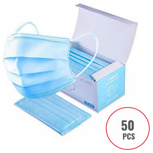 50 Boxes Disposable Face Masks - 2500 Units