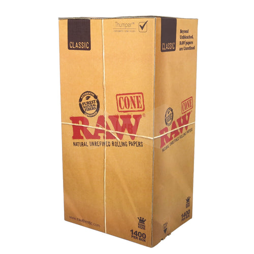 Raw Pre-Rolled Cones King Size - 1400ct