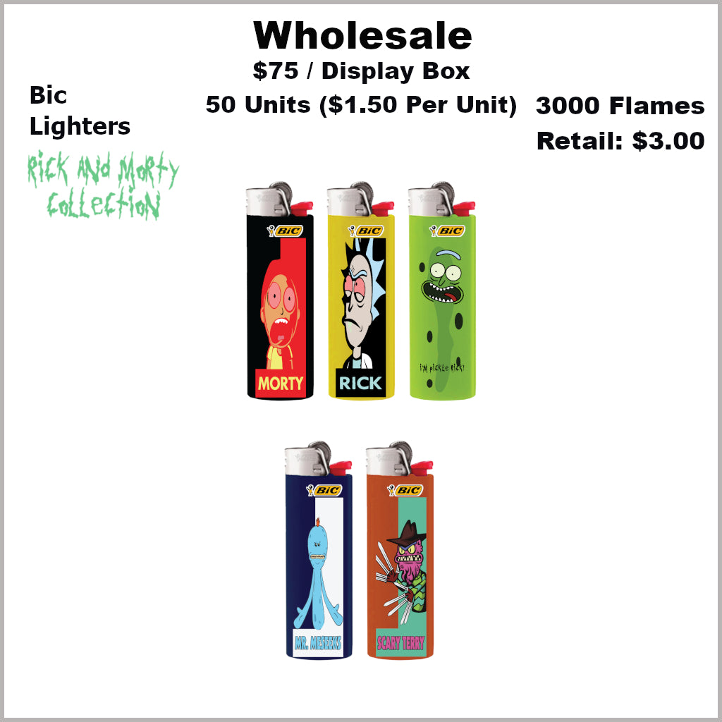 Lighters- BiC Lighters Rick & Morty Collection (50 Units) Not Available Online/Call (951) 547-0801 To Order