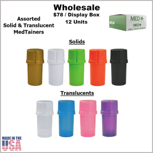 Medtainers- Plain Assorted Solids & Translucents (12 Units)