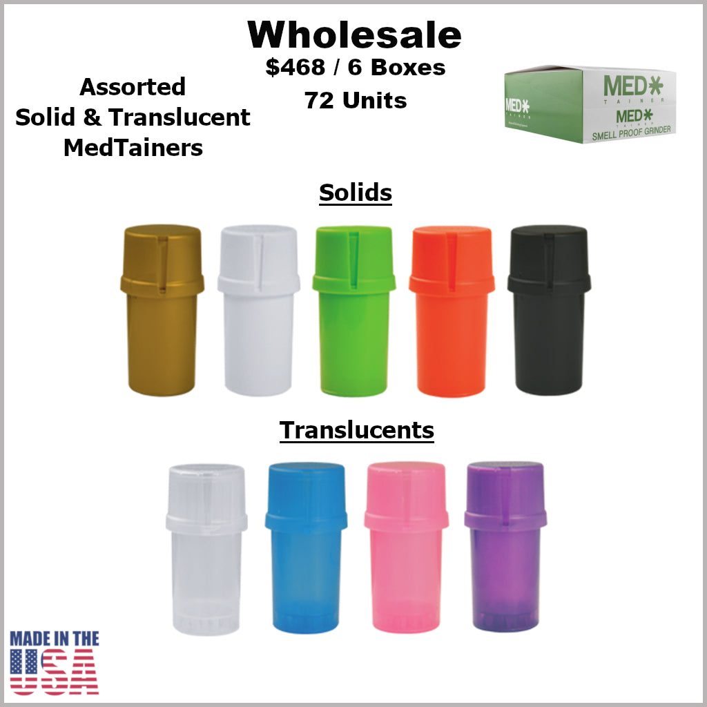 Medtainers- Plain Assorted Solids & Translucents (72 Units) Buy 4 Boxes Get 2 Free *Special Promo*